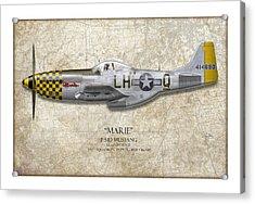 Marie Map Acrylic Print by Craig Tinder