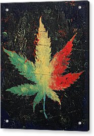 Marijuana Acrylic Print by Michael Creese