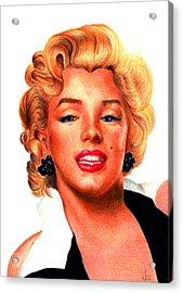 Marilyn Acrylic Print by Alessandro Della Pietra