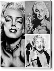Marilyn Collage Acrylic Print by Andrew Read