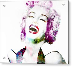 Marilyn Acrylic Print by Gillian Singleton