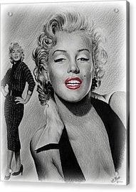 Marilyn Hot Lips Version Acrylic Print