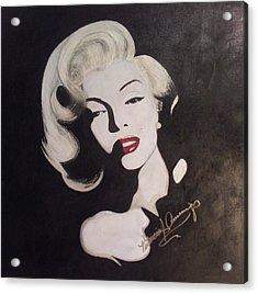 Marilyn In The Moonlight Acrylic Print