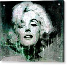 Marilyn Acrylic Print by Kim Gauge