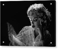 Marilyn Acrylic Print by Marina Likholat