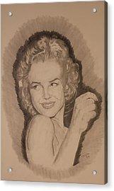 Marilyn Acrylic Print by Michael McGrath
