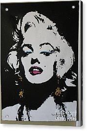 Marilyn Acrylic Print by Moira Ferguson