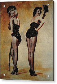 Marilyn Monroe And Jane Russell Acrylic Print