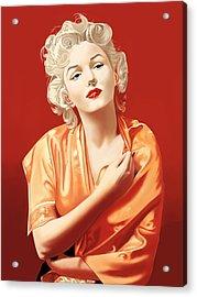 Marilyn Monroe Acrylic Print by Andrew Harrison
