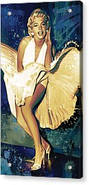 Marilyn Monroe Artwork 4 Acrylic Print by Sheraz A