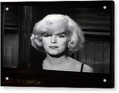 Marilyn Monroe At The Drive In Theater Acrylic Print by Linda Phelps