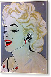 Marilyn Monroe Beautiful Acrylic Print by Saundra Myles
