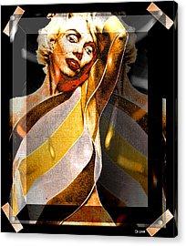 Acrylic Print featuring the digital art Marilyn Monroe by Daniel Janda