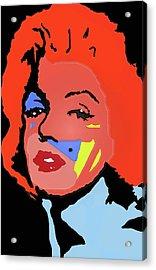 Marilyn Monroe In Color Acrylic Print by Robert Margetts