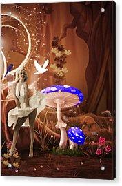 Marilyn Monroe In Fantasy Land Acrylic Print by EricaMaxine  Price