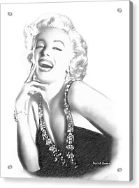Marilyn Monroe - In Memory Acrylic Print by Angela A Stanton