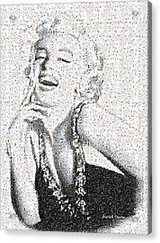 Marilyn Monroe In Mosaic Acrylic Print by Angela A Stanton