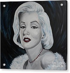 Acrylic Print featuring the painting Marilyn Monroe by Julie Brugh Riffey