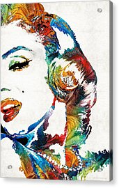 Acrylic Print featuring the painting Marilyn Monroe Painting - Bombshell - By Sharon Cummings by Sharon Cummings