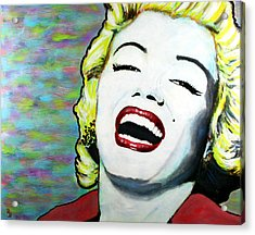 Marilyn Monroe Portrait Bright Laugh Acrylic Print