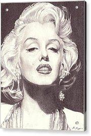 Marilyn Monroe Portrait Drawing Acrylic Print
