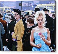 Marilyn Monroe - River Of No Return Acrylic Print by Jo King