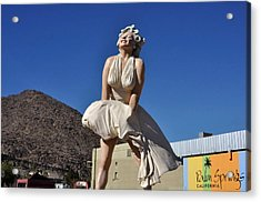 Marilyn Monroe Statue In Palm Springs California Acrylic Print