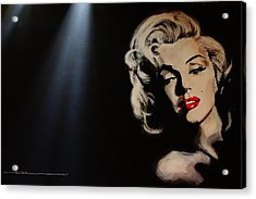 Acrylic Print featuring the painting Marilyn Monroe - Tmi by Eric Dee
