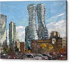 Marilyn Monroe Towers In Mississauga Acrylic Print