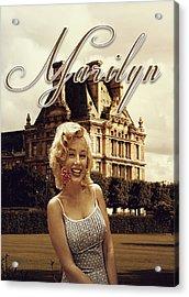 Marilyn Paris Monroe Acrylic Print by Greg Sharpe