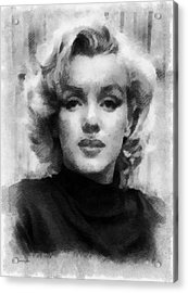 Marilyn Acrylic Print by Patrick OHare