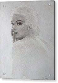 Marilyn Profile Acrylic Print