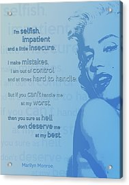 Marilyn Quote Acrylic Print