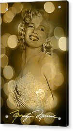 Marilyn Sparkles Acrylic Print by Greg Sharpe