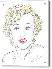 Marilyn Acrylic Print by Steven White