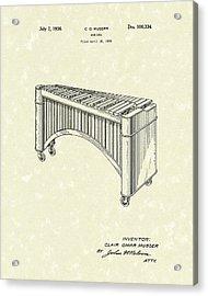 Marimba 1936 Patent Art Acrylic Print