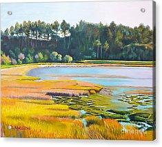 Marin County Marsh Acrylic Print
