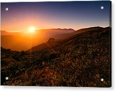 Marin County Sunset Acrylic Print by Alexis Birkill