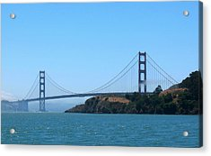 Marin County View Of The Golden Gate Bridge Acrylic Print