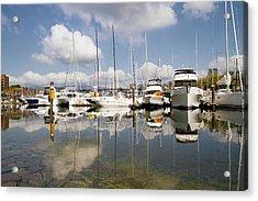 Marina At Granville Island Vancouver Bc Acrylic Print by David Gn