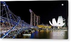 Marina Bay Sands Acrylic Print by Pete Reynolds