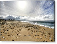 Marina Beach Walk Acrylic Print