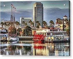 Marina Before Sunset Acrylic Print by Pam Vick