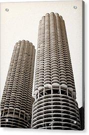 Marina City Chicago Acrylic Print by Julie Palencia