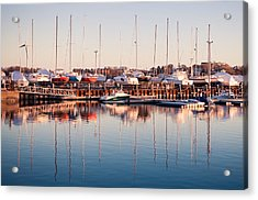 Marina Colors Acrylic Print by Lee Costa