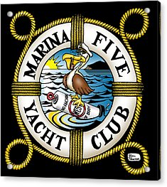 Marina Five Yacht Club Acrylic Print