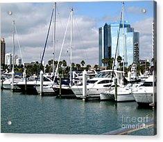 Marina In Sarasota Acrylic Print by Oksana Semenchenko