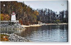 Acrylic Print featuring the photograph Marina Inlet by Greg Jackson