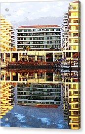 Marina Mazatlan Mirror Acrylic Print