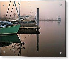 Acrylic Print featuring the photograph Marina Morning by Laura Ragland